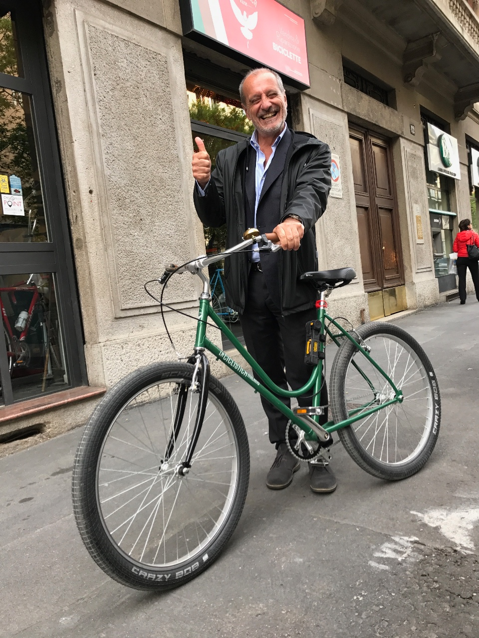 la Ciclistica Milano La 01 step through verde brexit